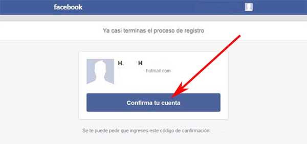 Verificar cuenta en Facebook