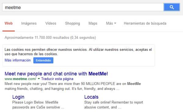 meetme en google