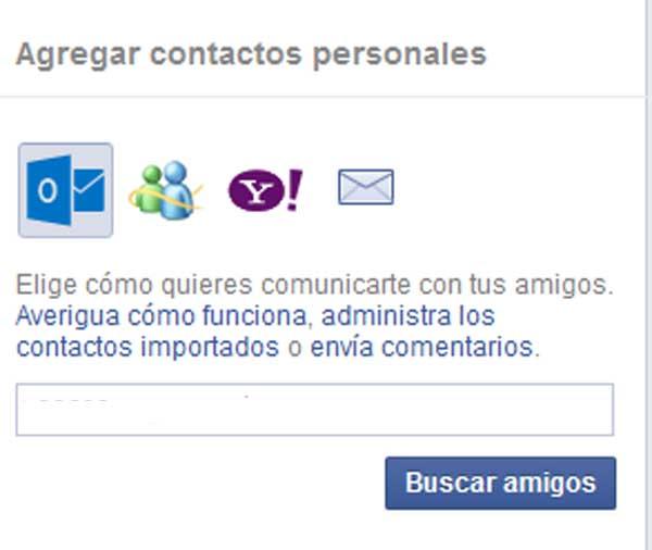solicitud de amigos por facebook