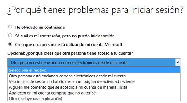 restablecer correo hotmail