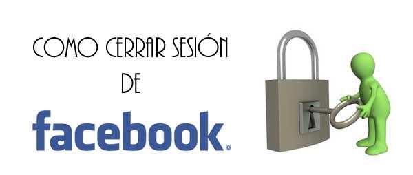 cerrar sesion en facebook
