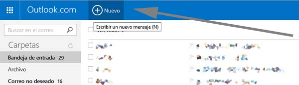 nuevo mensaje en hotmail