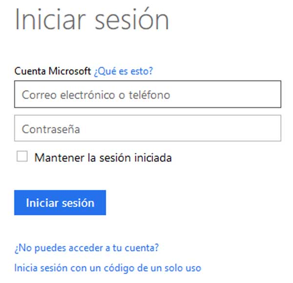 acceso a hotmail