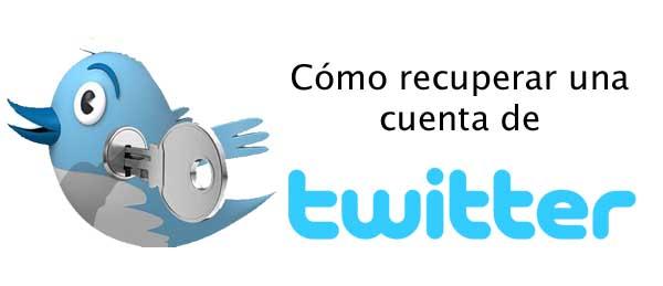 restablecer cuenta de twitter