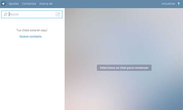 usar telegram