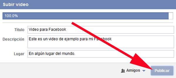poner video en mi facebook