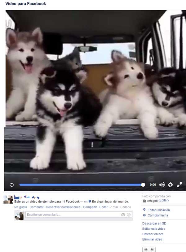 video en mi facebook