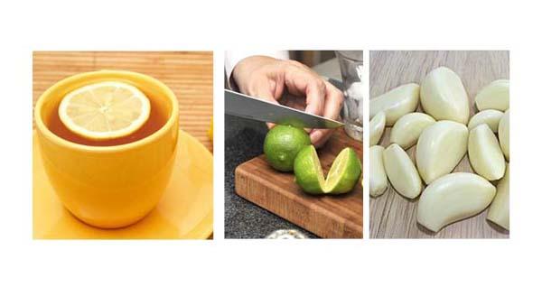 zumo de ajo y limón