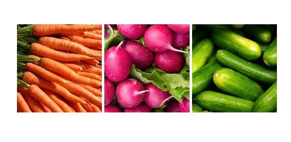 jugo natural de zanahoria, pepino y rabano