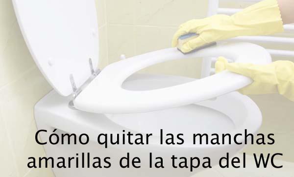 limpieza de la tapa del baño
