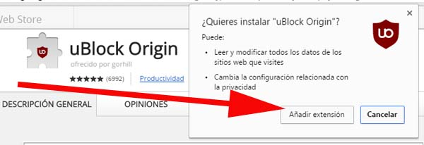 Instalar uBlock Origin en Chrome | Método # 2