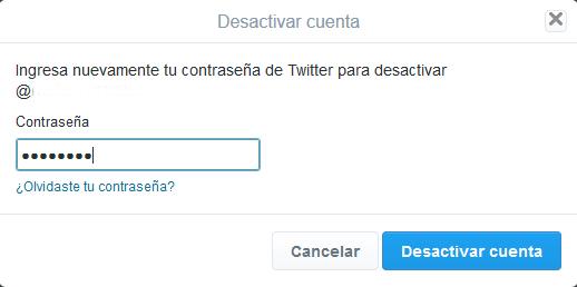 eliminar twitter