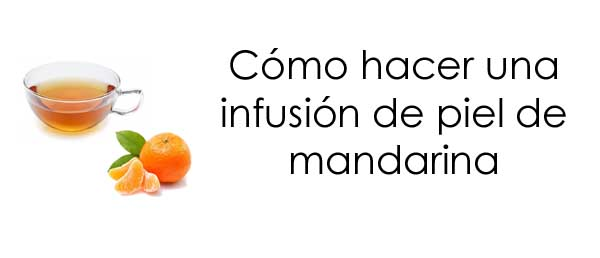 infusión de cascara de mandarina