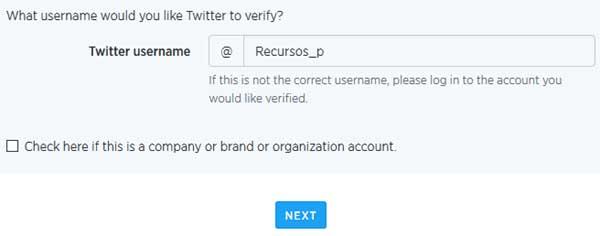 verificar cuenta de twitter