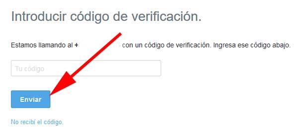 Verificar perfil de Twitter