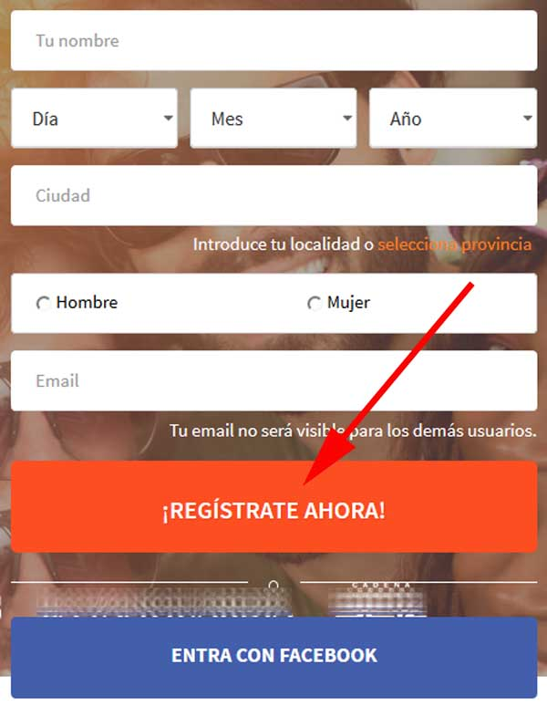 Inscribirse en Mobifriends