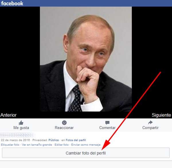 Colocar nueva foto en perfil de Facebook