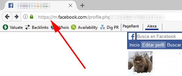 Ir a Facebook para PC