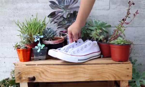 Lavar y secar zapatillas