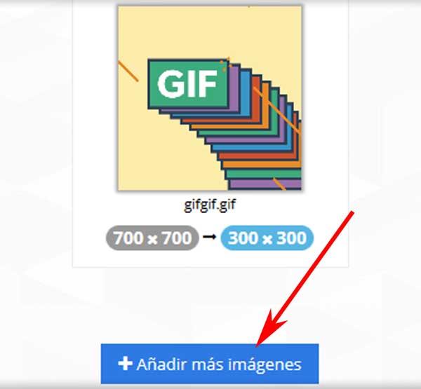 Cambiar tamaños de GIFs