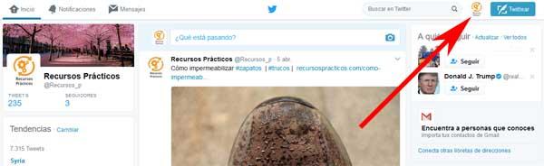 Poner una foto de perfil en Twitter