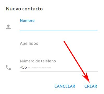 Añadir a un contacto en Telegram