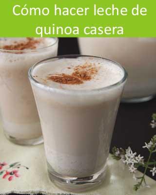 Preparación de la leche de quinoa