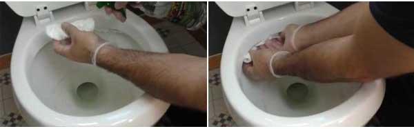 Cómo limpiar un inodoro