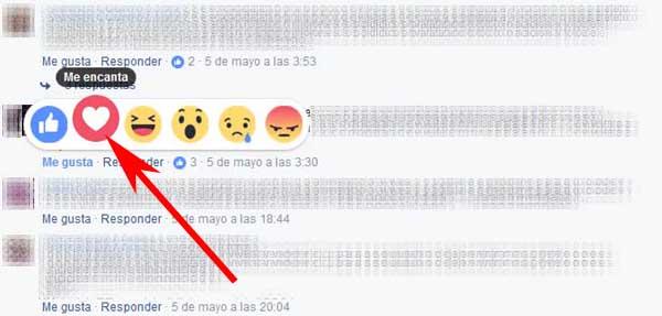 Cómo poner reacciones en los comentarios de Facebook