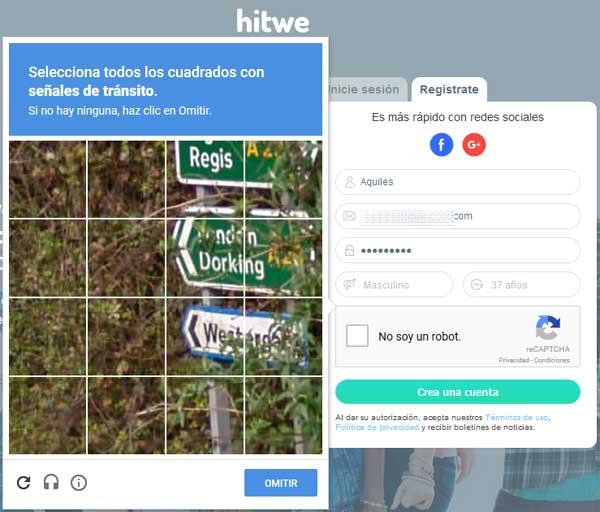 Crear una cuenta en Hitwe
