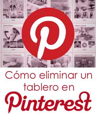 Borrar un tablero en Pinterest