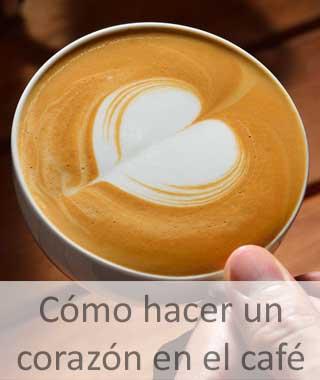 Dibujar un corazón en el café