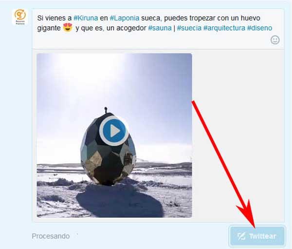 Publicar un video en Twitter