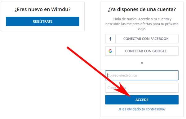 Cómo registrarse en Wimdu