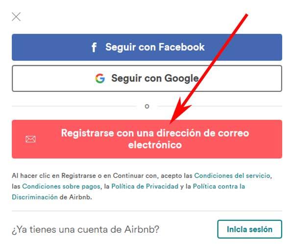 Abrir una cuenta en Airbnb