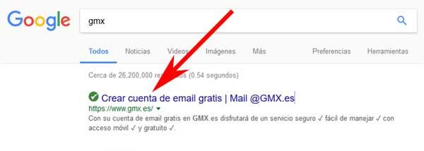 Ingresar a GMX