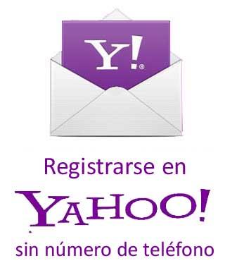 Abrir cuenta en Yahoo sin número de móvil