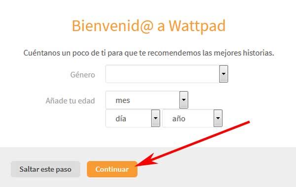 Crear una cuenta en Wattpad en español