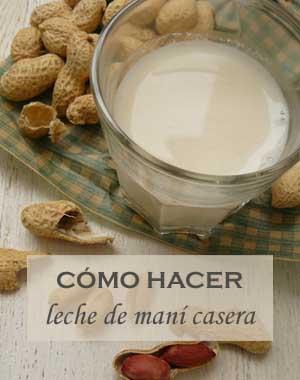 Cómo preparar leche de maní o cacahuate