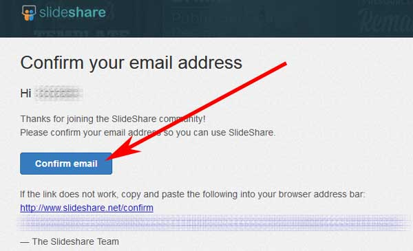 Registrarse en SlideShare sin LinkedIn