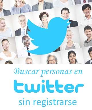 Buscar a alguien en Twitter sin Twitter
