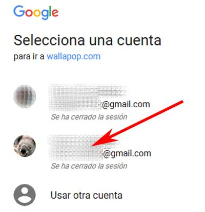 Registrarse en Wallapop con Gmail