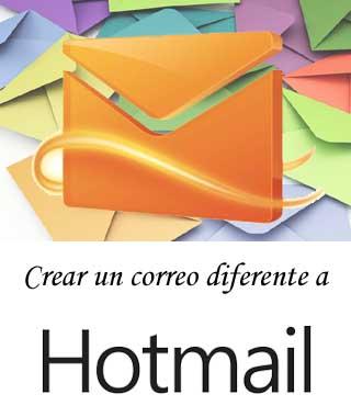 Cuenta de correo diferente a Hotmail