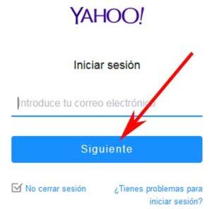 Acceder al correo Yahoo