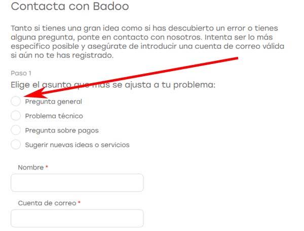 Denunciar perfil en Badoo