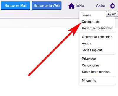 Crear un correo desechable en Yahoo