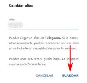 Cómo ocultar el número de teléfono móvil en Telegram a otros contactos