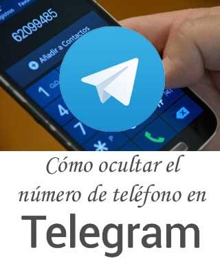 Cómo esconder el número de teléfono móvil en Telegram a otros contactos
