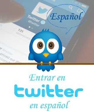 Cambiar al idioma español Twitter