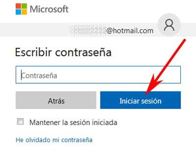 Iniciar sesión en ,mi cuenta de correo Hotmail